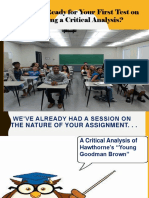 Critical Analysis Updated 2019 Review