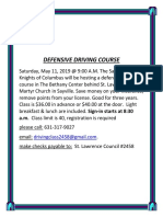 Defensive Driving Course 5-11-19