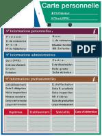 Carte Personnelle FR