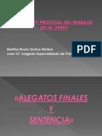 ALEGATOS FINALES Y SENTENCIA - LEY N° 29497.pptx