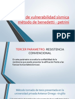 Índice de Vulnerabilidad Sísmica Método de Benedetti -Exposicion Sabado