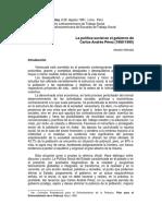 Política Social - Carlos Andrés Pérez
