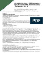 Strategic Management & Bussiness Policy MU0036 Set-1