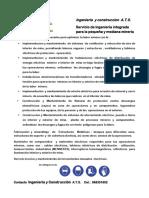 Servicio de ingenieria integrada para la pequeña y mediana mineria.docx