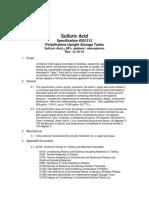Specification Sulfuric Acid