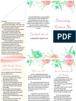 special education parent brochure