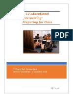 tgreenlee educ interpreting preparing for class sl1 final draft