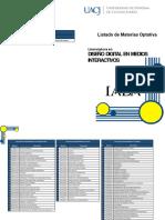 Materias Optativas Dis. Digital y Medios Interactivos