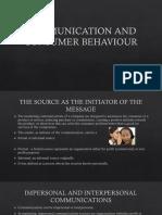 Communication and Consumer Behaviour