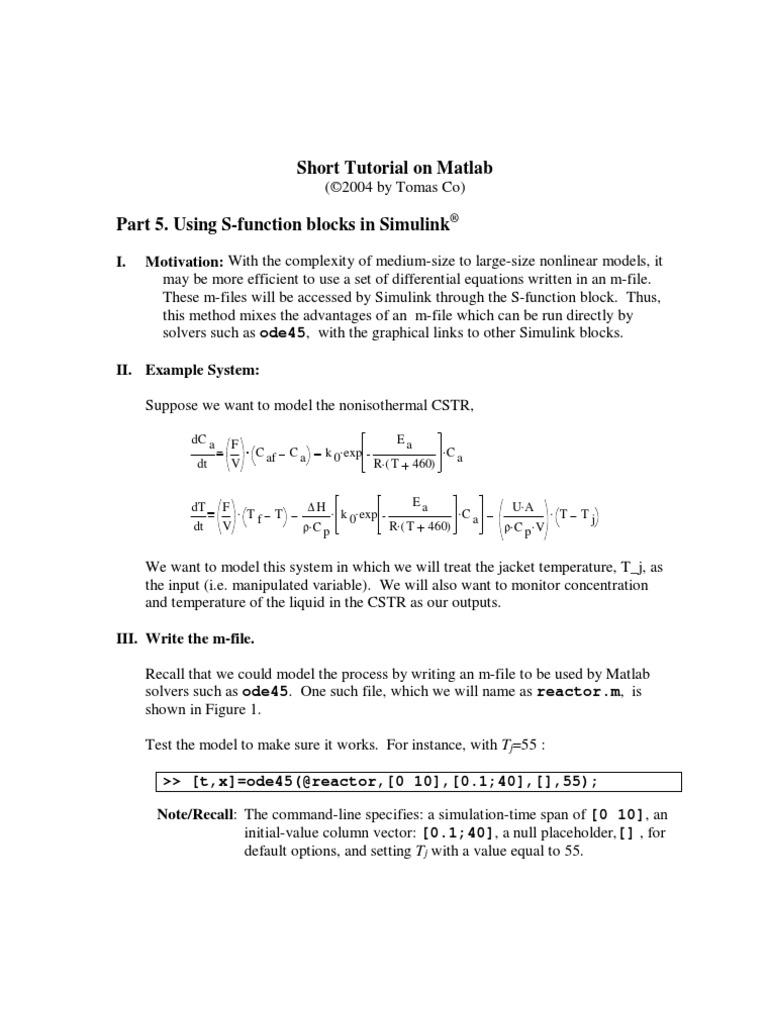 Matlab Tutorial Part 5   Parameter (Computer Programming)   Software