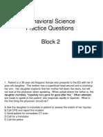 Behavioral science practice