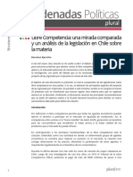 Libre Competencia Comparada y Legislación Chilena