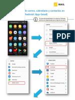 Android App Gmail - Configuración de correo calendario y contactos