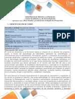Syllabus Del Curso Diseño y Evaluación Integral de Proyectos