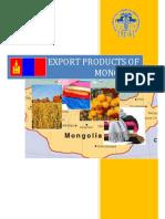Mongolia Export