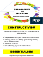 Philosophies of Education