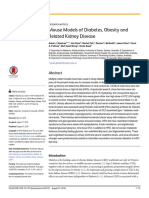 Mouse Models of Diabetes, Obesity and Related Kidney Disease