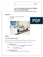 Lab Session 3 Energy Conservation of Rolling Disk