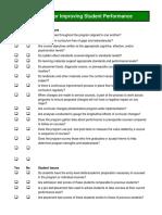 Students Performance Checklist