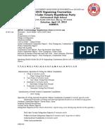 2019-04-13 Agenda - Organizing Convention