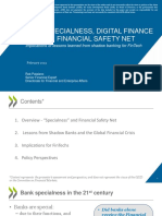 Bank Specialness, Digital Finance and the Financial Safety Net