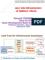 Private Finance into Infrastructure by Use of Spillover effects
