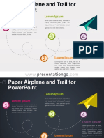 Paper Airplane Template Power Point