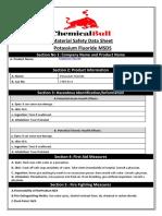 Potassium Fluoride MSDS - ChemicalBull - 2019