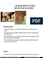 Specific & Non Specific Viral Lesions on Teat & Udder