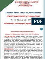 3) PRESENTACIÓN DERECHO PROCESAL COLECTIVO DEL TRABAJO. LA CONCILIACIÓN.  AGOSTO 2018.ppt