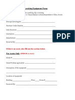 Packing and Receiving Form