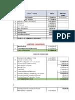 contabilidad de costos y flujo de efectivo
