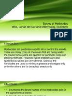 Survey of Herbicides