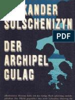 Alexander Solschenizyn - Der Archipel Gulag