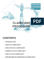 Claims and Procedure