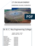 A Project on Solar Energy