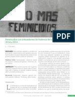 Feminicidios con antecedentes de violencia de género en Veracruz 2014 y 2015