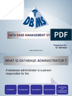 DBMS Back & Recovery