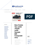 Taxation TRAIN law