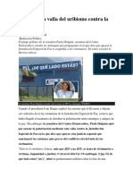 2019 03 24 La polémica valla del uribismo contra la JEP