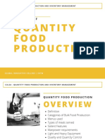 Principles of Quantity Food Production