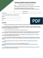 Medical Treatment Authorization 061311