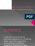 Probability and Statistics - Key Terms Review