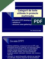 Categorii de Texte Pentru Multimedia