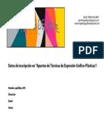 Impreso Datos de Inscripción en Apuntes de TEGP. A5,