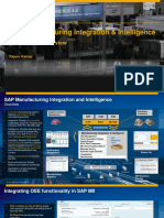 SAP Manufacturing Integration & Intelligence Certification Overview