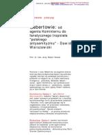 Gebertowie - Dawid Warszawski -- Prof
