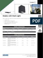Diablo LED Wall Light