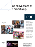 Codes and Conventions of Print Advertising.