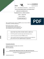 CAPE Applied Mathematics Past Papers 2005P1C
